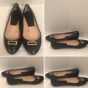 ZARA TRF Leather Ballet Flats (SZ: 10/40)